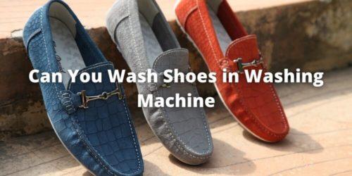Can we wash shoes in a washing machine