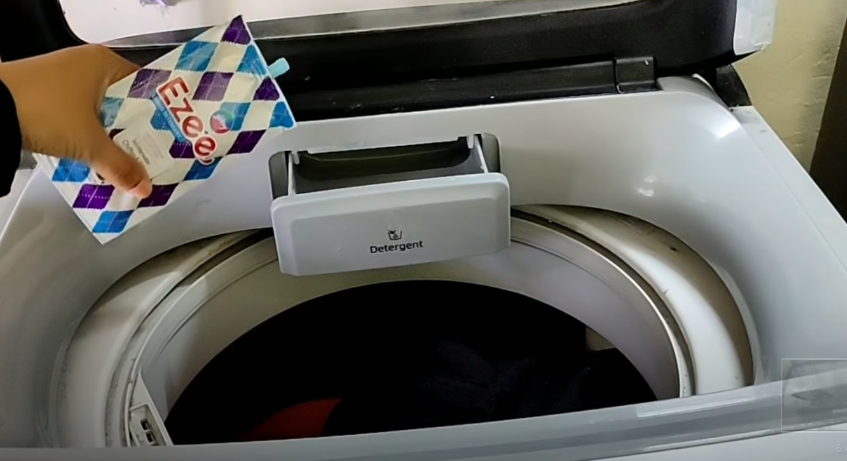 addition of ezee liquid detergent in fully automatic washing machine