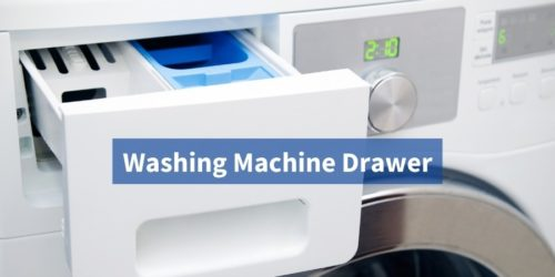 What are 3 compartments of the Washing Machine Drawer?