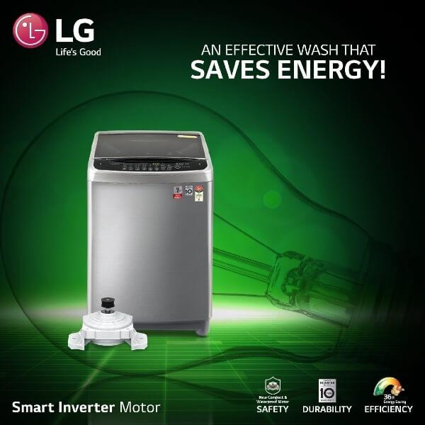 LG washing machine insta post